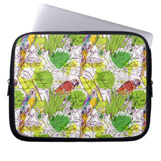 Papagaios tropicais capa para notebook