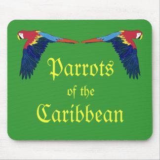 Papagaios verdes do caribe mouse pad