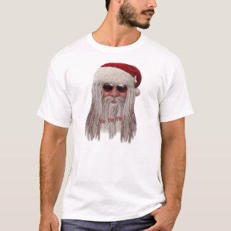 Papai Noel com máscaras & teme Camisetas