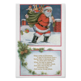 Papai Noel com presentes Poster