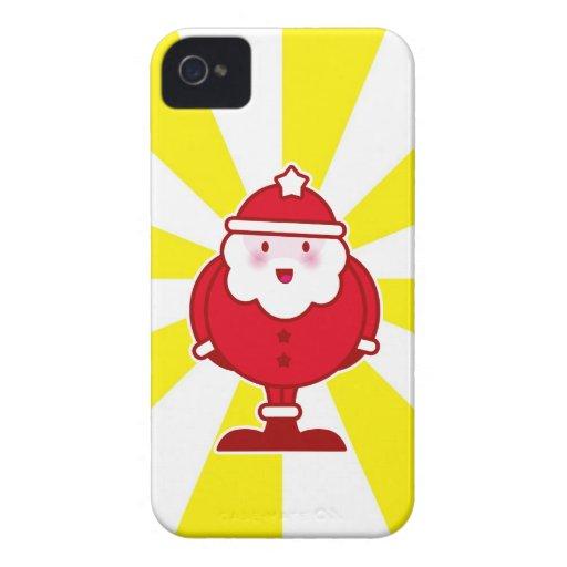 Papai noel de Kawaii Capas iPhone 4