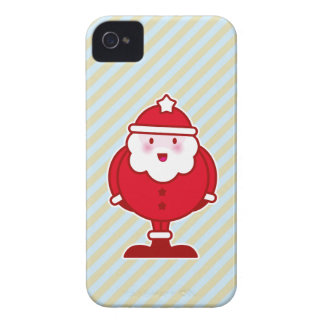 Papai noel de Kawaii Capas De iPhone 4 Case-Mate