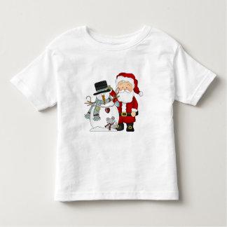 Papai noel do Natal e t-shirt do boneco de neve