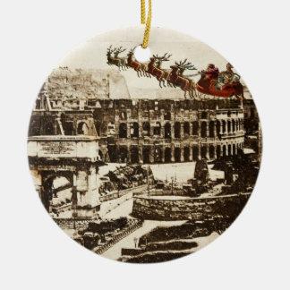 Papai noel do vintage em enfeites de natal de Roma
