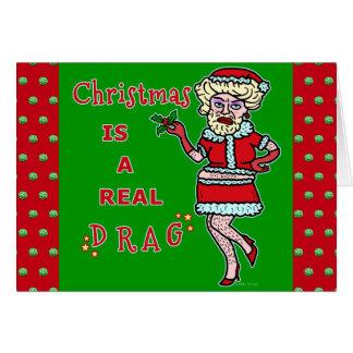 Papai noel engraçado da farsa de Bah do Natal no Cartão