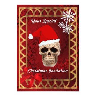 Papai noel gótico engraçado, Natal Convites