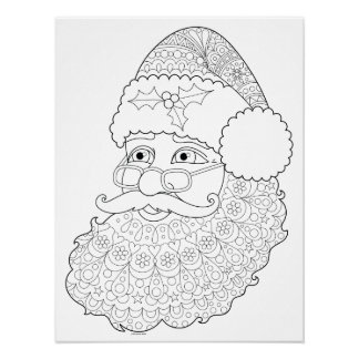 Papai noel Groovy que colore o poster - poster