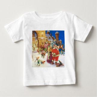 Papai noel & Noite de Natal da Sra. Claus no Pólo Tshirts