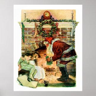 Papai Noel que entrega presentes Poster