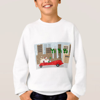 Papai noel urbano no carro lustroso t-shirt