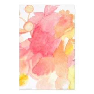 Papel de carta abstrato floral papelaria