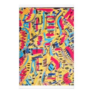 Papel de carta com design abstrato de nós papelaria