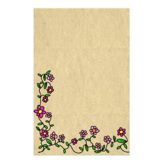 Papel de carta da prosa da flor papelaria