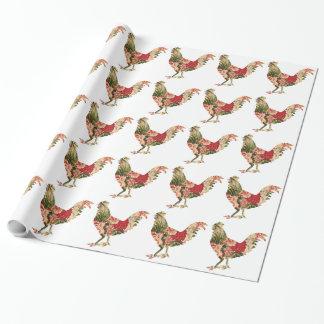 Papel de envolvimento da galinha de chintz papel de presente