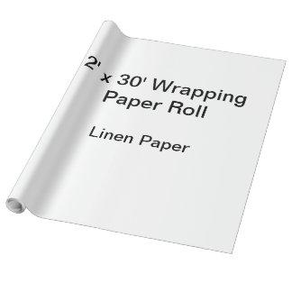 Papel de envolvimento (rolo 2x30, papel de linho) papel de presente