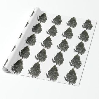 Papel de envolvimento verde da árvore papel de presente