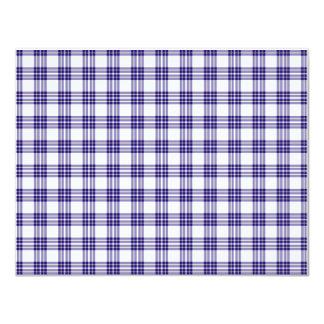 Papel de fundo azul da xadrez convites personalizado