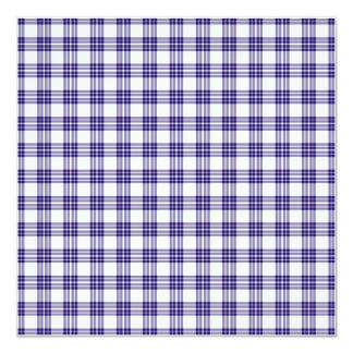 Papel de fundo azul da xadrez convite personalizado