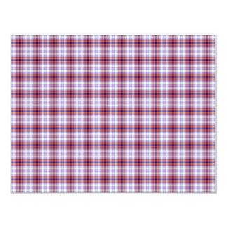 Papel de fundo azul e alaranjado da xadrez convite