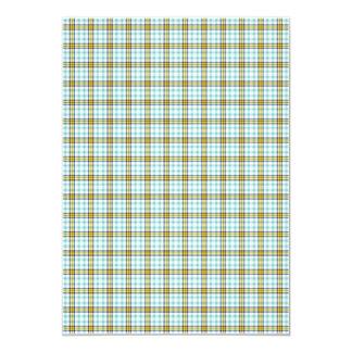 Papel de fundo azul e amarelo da xadrez convite personalizados