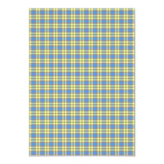 Papel de fundo colorido da xadrez convite 12.7 x 17.78cm