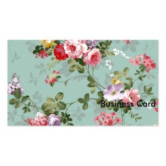 Papel de parede floral do vintage cartão de visita