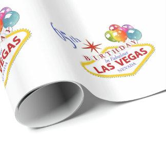 Papel De Presente 65th Aniversário no papel de envolvimento de Las