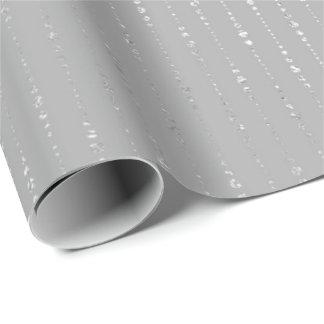 Papel De Presente A cinza de prata da grafite dos diamantes listra