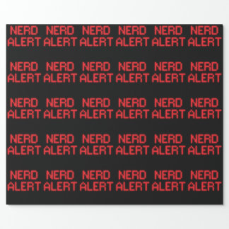 Papel De Presente Alerta do nerd