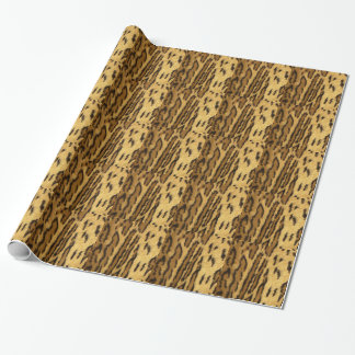 Papel De Presente Animal exótico da pinta do leopardo