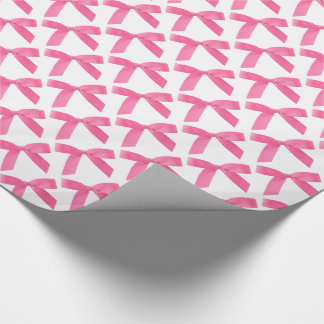 Papel De Presente Arcos cor-de-rosa da fita no branco