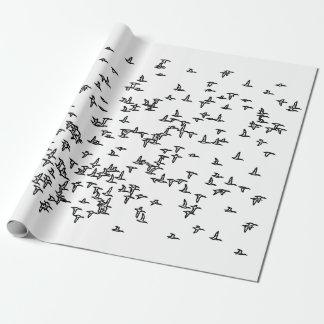Papel De Presente Arte da caça do pato dos patos em vôo -