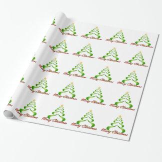 Papel De Presente Árvore de fita do Feliz Natal