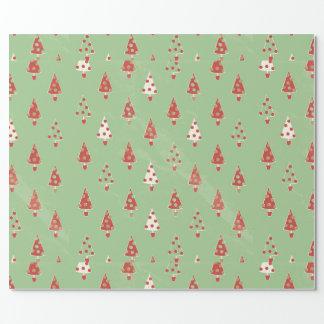 Papel De Presente Árvores de Natal