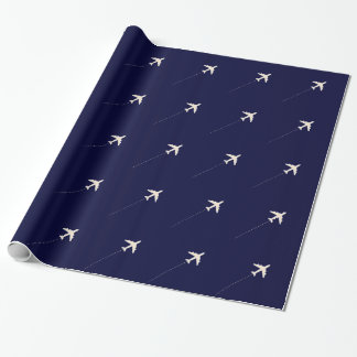 Papel De Presente avião do viagem com linha pontilhada