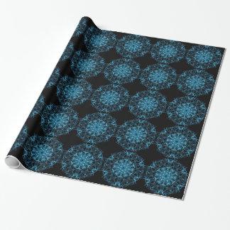 Papel De Presente Azul de seda do laser da arte