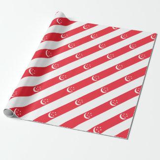 Papel De Presente Baixo custo! Bandeira de Singapore