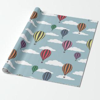 Papel De Presente Balões de ar quente coloridos