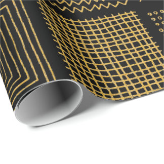 Papel De Presente Branco & padrões geométricos legal da textura do
