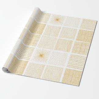 Papel De Presente Branco & teste padrão geométrico da textura do