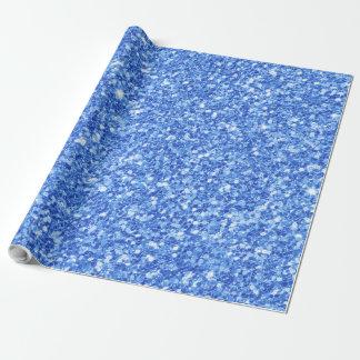 Papel De Presente Brilho azul & impressão branco da textura dos