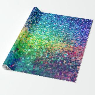 Papel De Presente Brilho colorido & impressão branco da textura dos