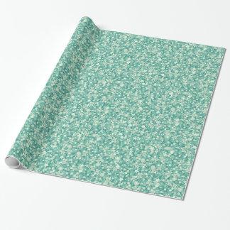 Papel De Presente Brilho da hortelã e Sparkles. verdes e brancos