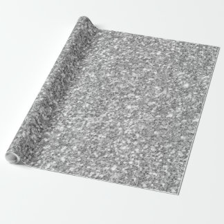 Papel De Presente Brilho de prata & impressão branco da textura dos