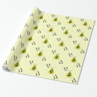 Papel De Presente Bumble a abelha, abelha feliz