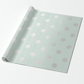 Papel De Presente Da hortelã pequena do Aqua de Tiffany dos pontos