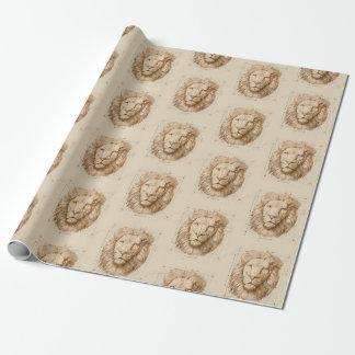Papel De Presente Desenho do leão