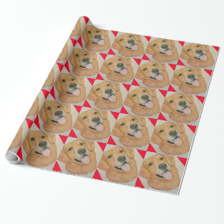 Papel De Presente Desenho original do golden retriever