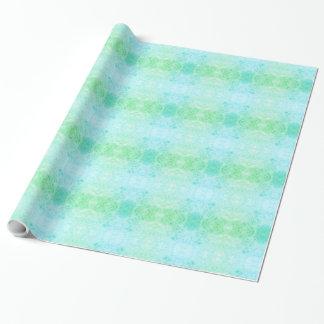 Papel De Presente Design azul e verde do fosco
