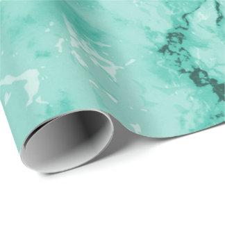 Papel De Presente Design de mármore verde da textura da hortelã